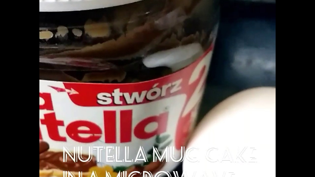 Ingredient Mug Cake Nutella