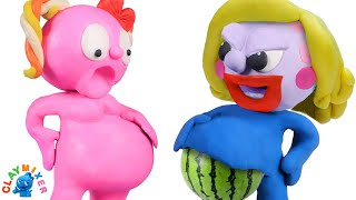 A Fruity Pregnancy - Clay Mixer Stop Motion Animation
