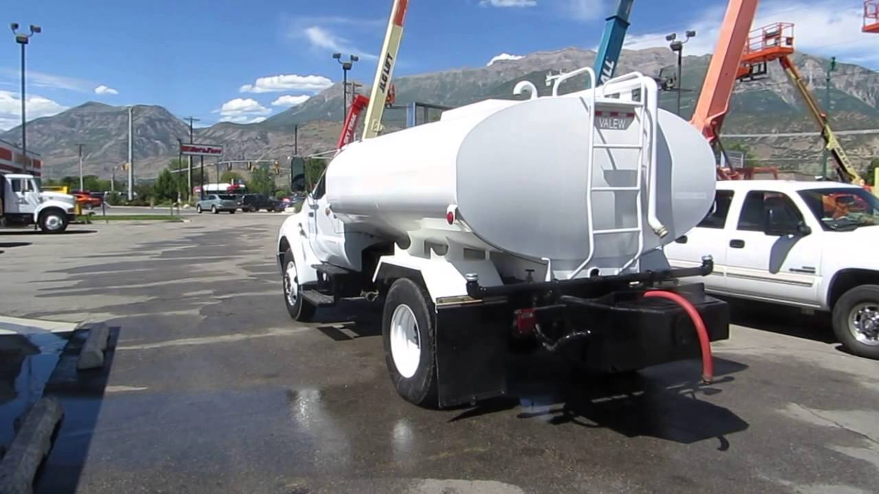 Ford F750 For Sale >> Water Truck 2005 Ford F750 2000 Gallon CAT C7 210 HP Diesel FFSRR FOR SALE $42,800 - YouTube