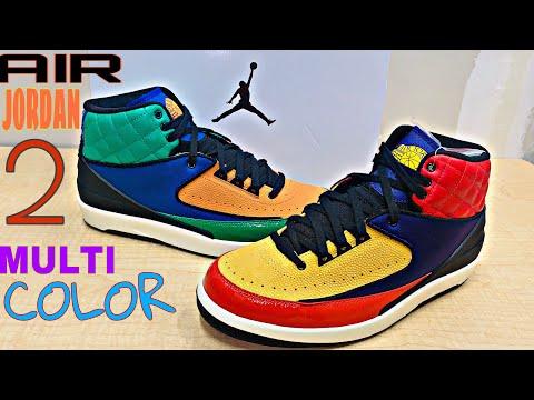"Air Jordan Retro 2 ""Multi-Color Woman's"" Unboxing and Review"