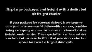 Air Courier Services(When you need to get a package delivered cross-country or overseas today, you need an air courier. Courier services often hand carry time-sensitive packages ..., 2013-06-12T21:07:06.000Z)
