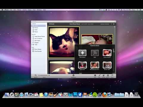 How to upload photos to facebook from iphoto library