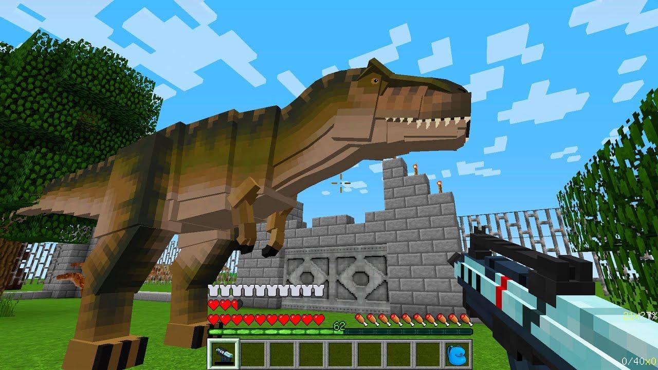 Мультики майнкрафт с динозавры