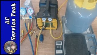 Refrigerant Recovery Machine, Hose, and Tank Setup! Recovery Process!