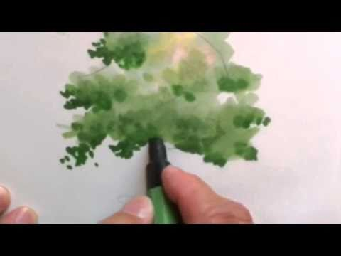 Architecture Drawing Of Trees mike lin: how to draw a tree with markers - youtube