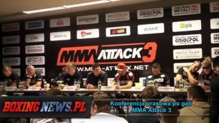 Konferencja prasowa po gali MMA Attack 3 - Burneika vs Ozdoba (28.4.13) 2017 Video