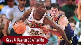 NBA Playoffs 2000. Utah Jazz vs Seattle SuperSonics - Game Highlights | Game 4 | Payton TD 35 pts HD