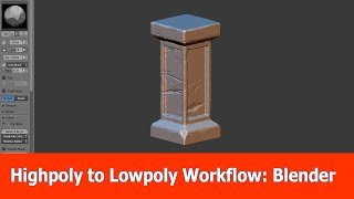 High poly to Low poly Workflow : Blender (1)