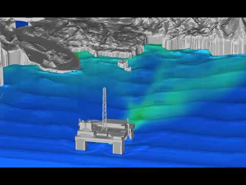 Visualization of Light Fuel Oil under High Wave Conditions and increased spill rate