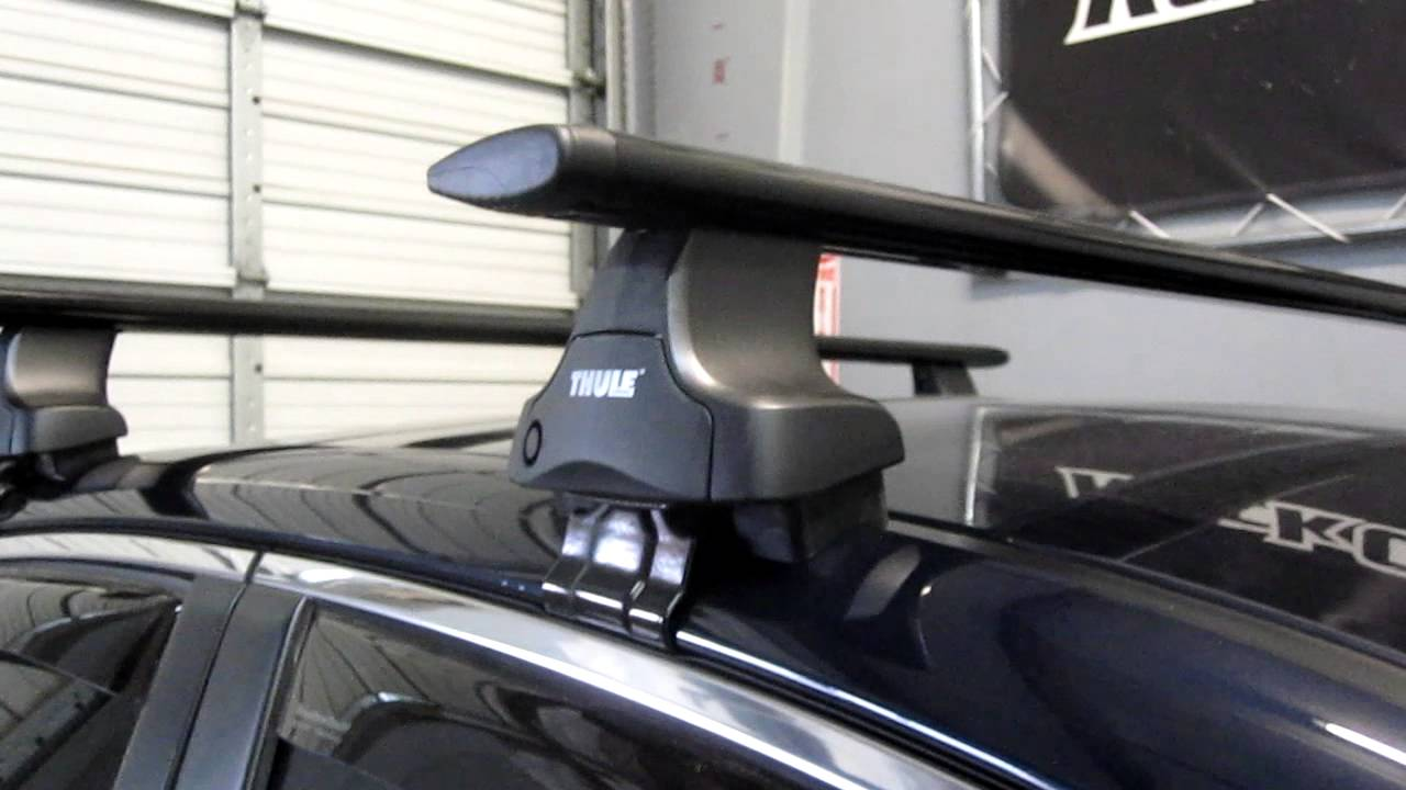 Superior 2012 Subaru Legacy Sedan With Thule 480R Traverse AeroBlade Roof Rack By  Rack Outfitters   YouTube