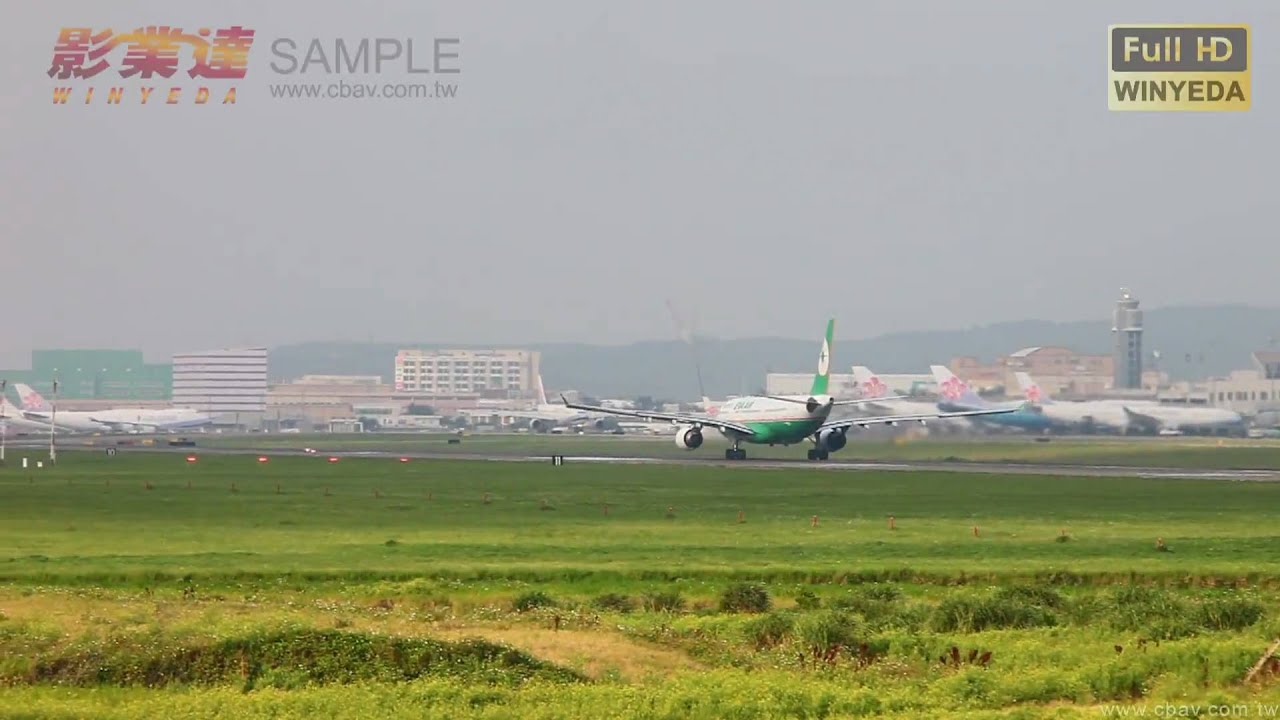 Full HD 1080p Music Viedo 桃園 中正國際機場 飛機起降 747 737 MD90-影片 素材W0141 - YouTube