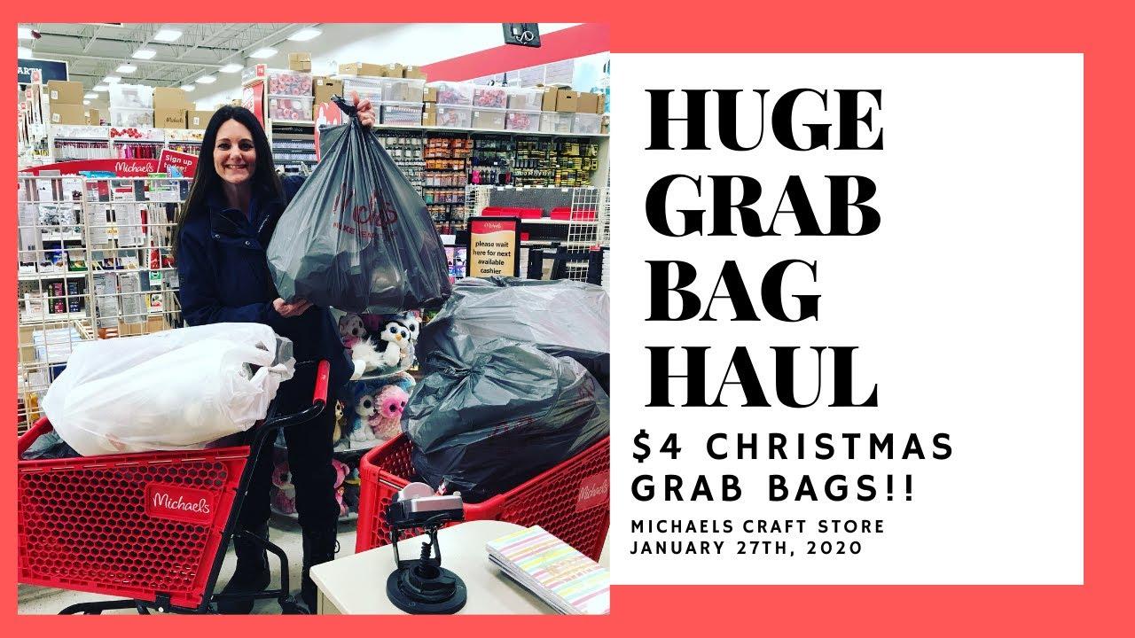 HUGE $4 CHRISTMAS GRAB BAG MICHAELS HAUL JANUARY 27, 2020! AMAZING