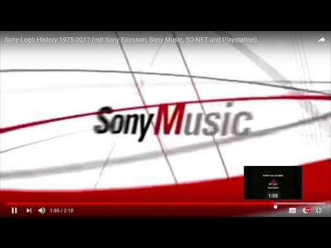 927 Sony Logo History 1975 2017 mit Sony Ericsson, Sony Music, SO NET und Playstation   YouTube   Mo