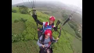 Paragliding at Polomolok, South Cotabato.
