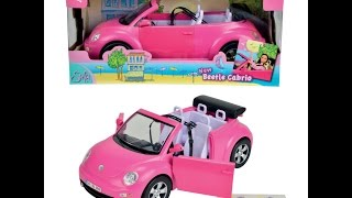 Alisha Playing With Steffi Love Beetle Convertable Toy Car And Steffi Doll