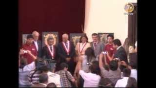 Ceremonia de presentación de los primeros puestos de admisión 2014 II  UNMSM