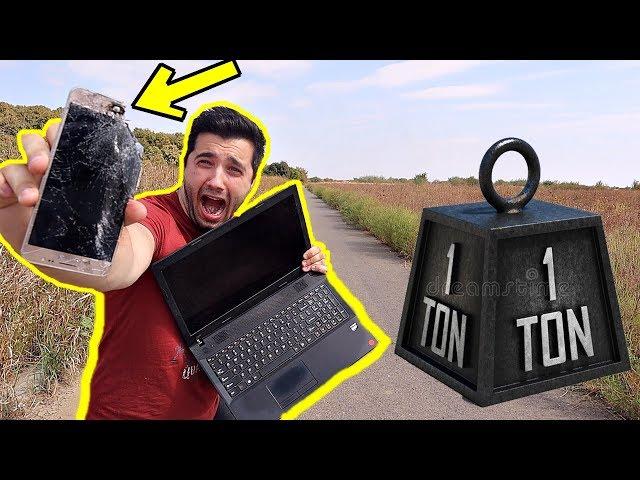 1 TONĂ vs. TELEFON + alte obiecte !! *EXPERIMENT*