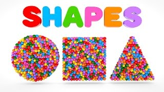 Learn Shapes with Colorful Balls - Shapes & Colors Videos Collection