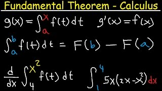 Fundamental Thereom of Calculus Explained - Part 1 & 2 Examples - Definite Integral