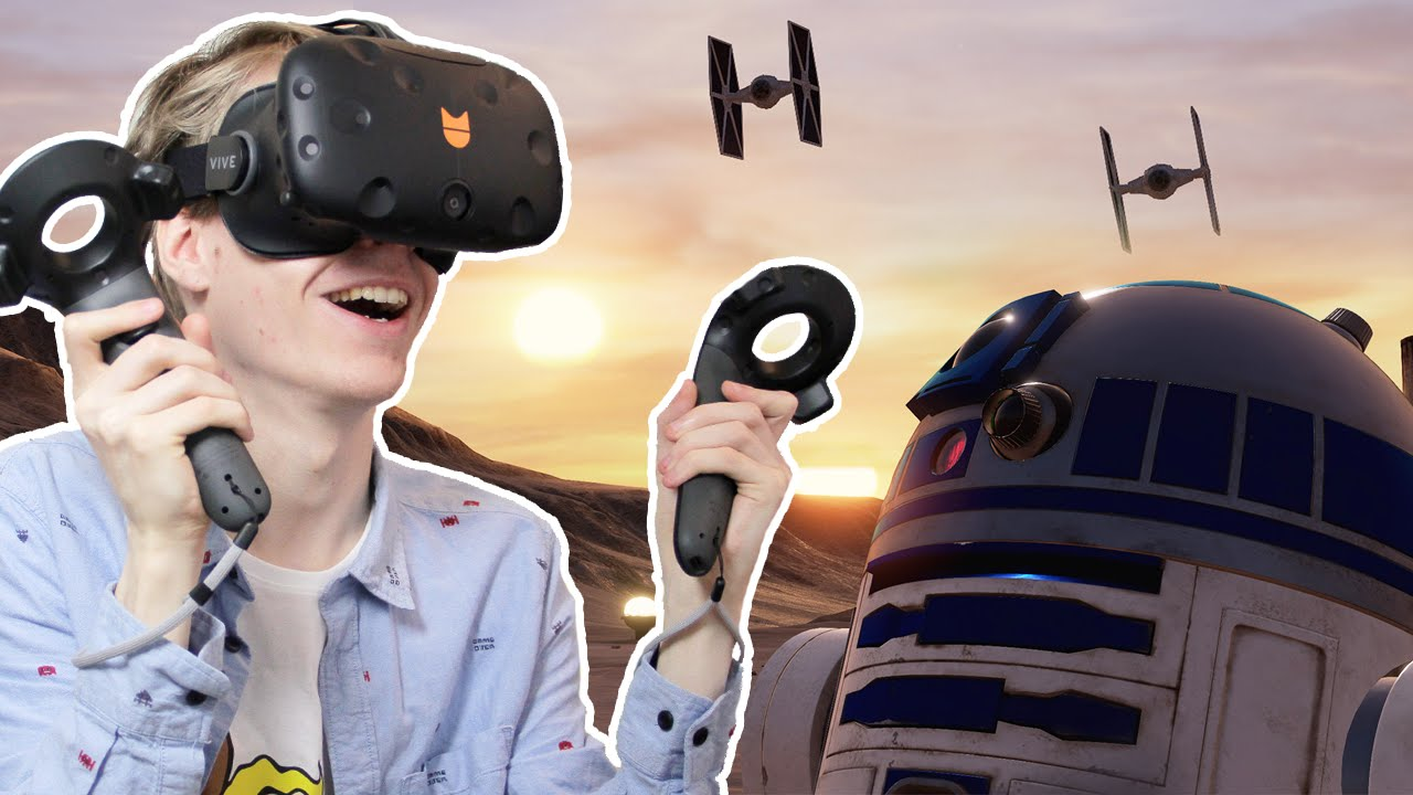INCREDIBLE VR LIGHTSABER BATTLE! | Star Wars: Trials on Tatooine (HTC Vive Gameplay)