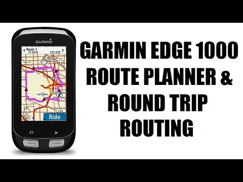 garmin edge 1000 route planner round trip routing youtube