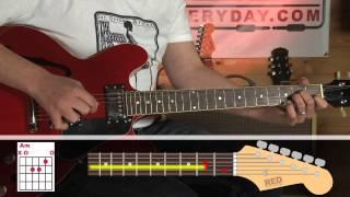 How to play - Radiohead - Street Spirit - riff - guitar lesson