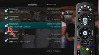 Phone Menu - Voicemail On TV