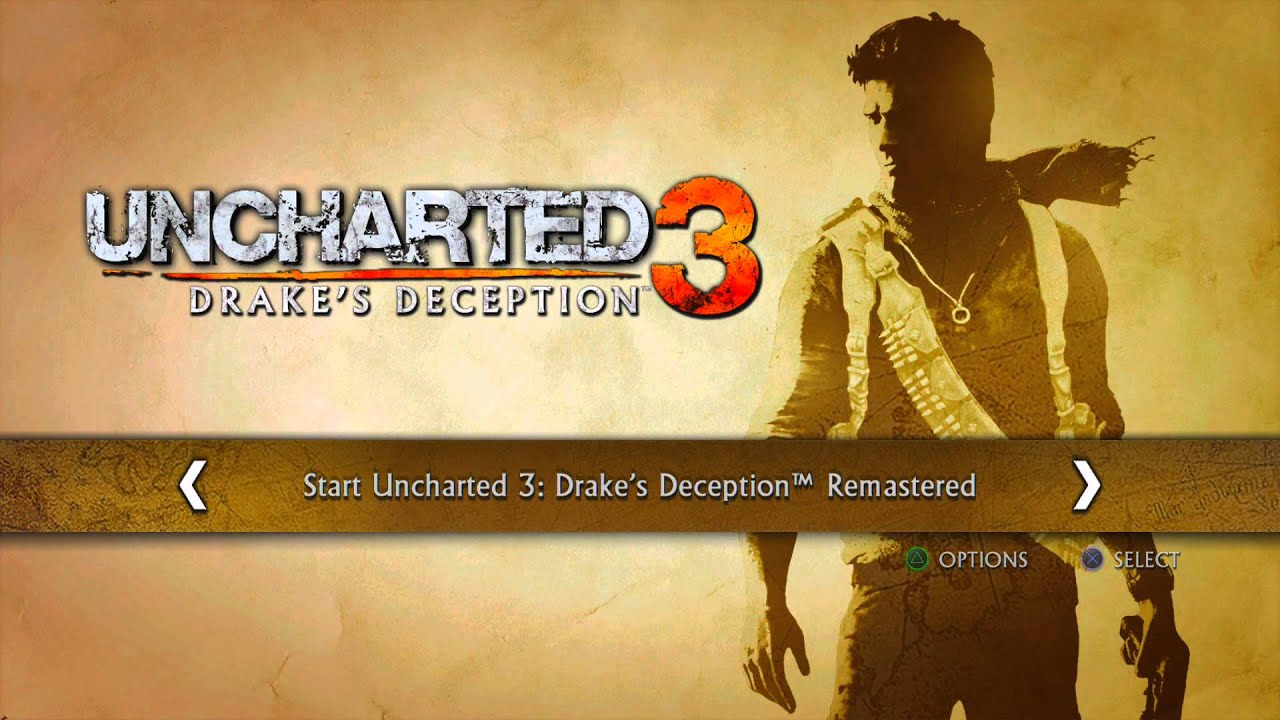Uncharted 3 Drakes Deception Remastered Title Screen Ps4 Youtube