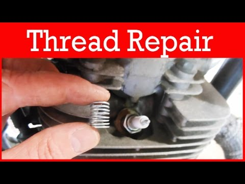 how to repair stripped spark plug threads using timesert helicoil kit