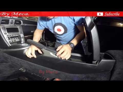2008 Porsche carrera 4s.  removing the center console part 2