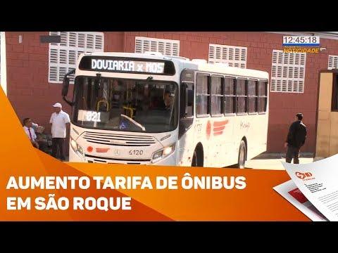 Tarifa de ônibus mais cara em São Roque - TV SOROCABA/SBT