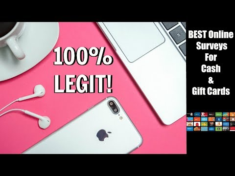 BEST Online Surveys For CASH & Gift Cards | LEGITIMATE