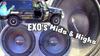 EXO's Mids & Highs w/ 8 Crescendo Audio PWX Speakers & 6 Ft1 Super Tweeters // 5 LOUD Test Songs