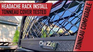 deezee headache rack install tonneau cover compatible