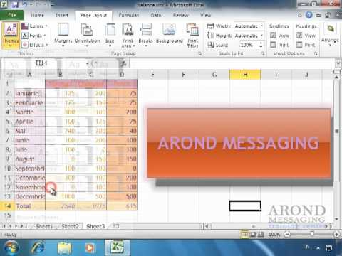 Using Excel 2010 - Apply a Workbook Theme - YouTube