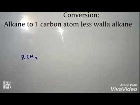 Organic chemistry conversion trick|alkane to an alkane having one carbon atom less then the first 1