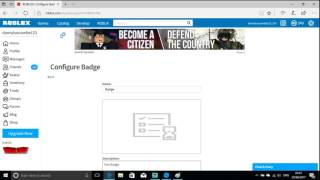 Roblox Tutorial - How to make a badge for your game