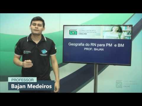 Curso de Geografia do Rio Grande do Norte para concursos públicos.