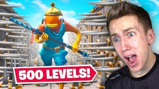 I attempted a 500 level Fortnite Deathrun...