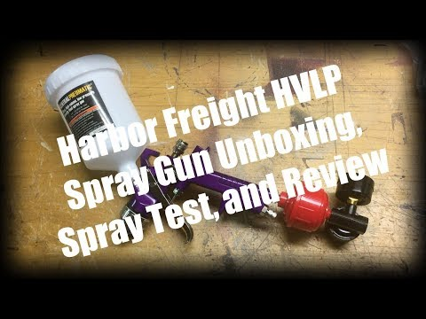 Harbor Freight HVLP Spray Gun Unboxing, Spray Test, and Review