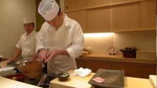 Yoshitake prepares sushi at 3 Michelin Sushi Yoshitake in Tokyo