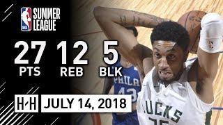Christian Wood Full Highlights vs Sixers (2018.07.14) NBA Summer League - 27 Pts, 12 Reb, 5 Blk