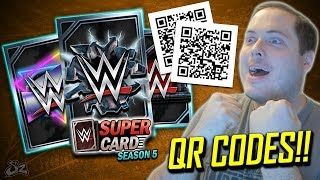 CRAZY QR CODE PRO PACK OPENING!! | WWE SuperCard Season 5
