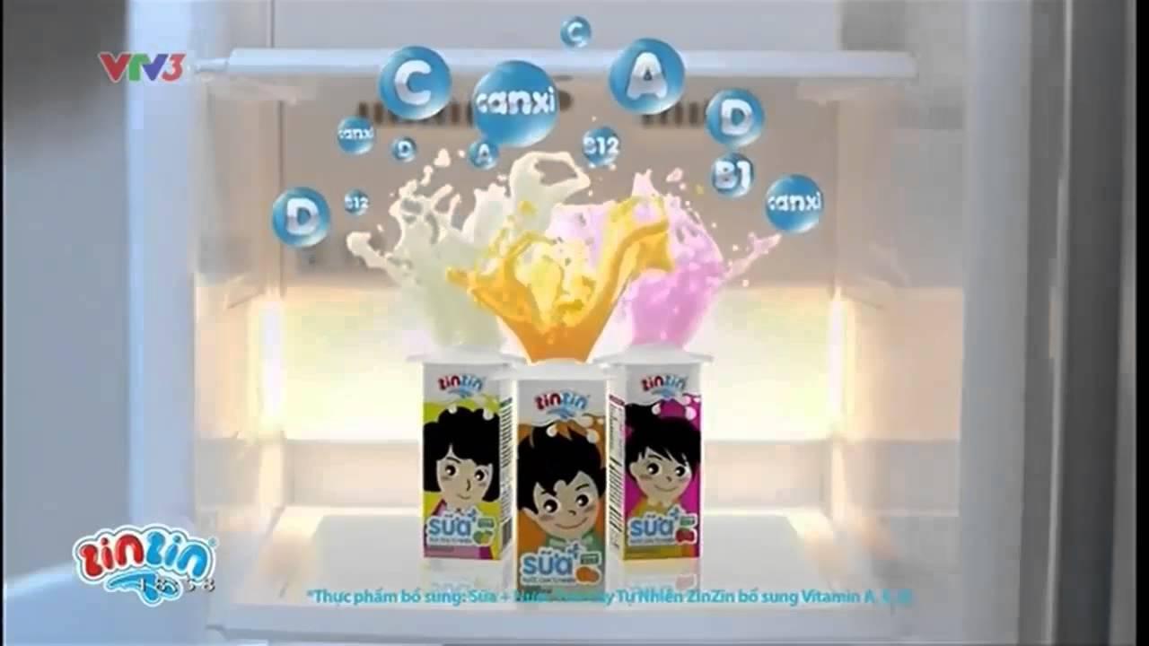 Quảng Cáo Sữa Trái Cây ZinZin mới nhất năm 2014 – Full HD