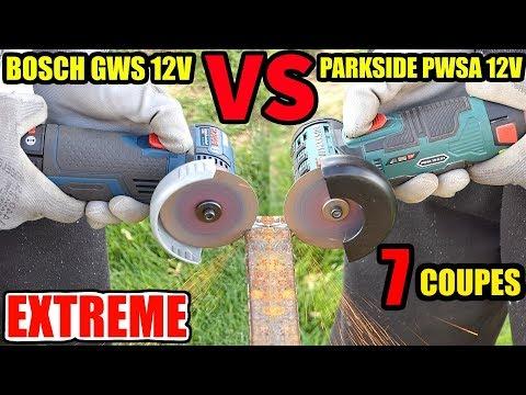 PARKSIDE PWSA 12V VERSUS BOSCH  GWS 12V-76 Professionnal Meuleuse d'angle