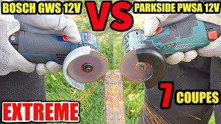 PARKSIDE PWSA 12V VERSUS BOSCH  GWS 12V-76 Professionnal Meuleuse d