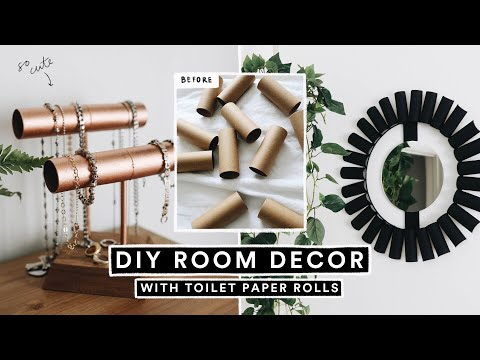 EASY DIY Room Decor With TOILET PAPER ROLLS! 🧻 *Looks Super Expensive*