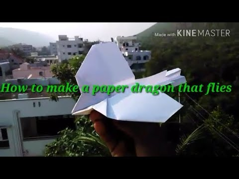 How to make a paper dragon that flies