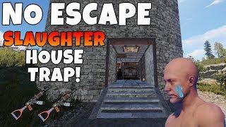 RUST | SECRET TRIP WIRE SLAUGHTER HOUSE TRAP BASE!