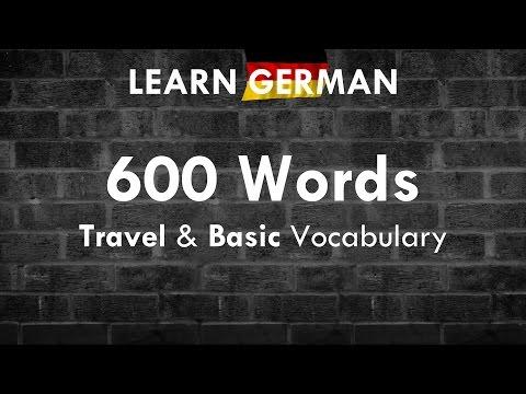 600 Important & Useful Words: Travel & Basic Vocab | German ⇔ English | Learn German HD♫